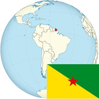 Globus-Französisch-Guayana