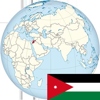 Globus-Jordanien