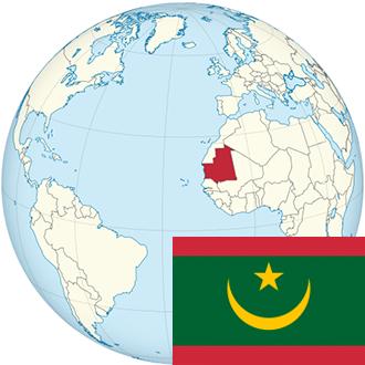 Globus-Mauretanien